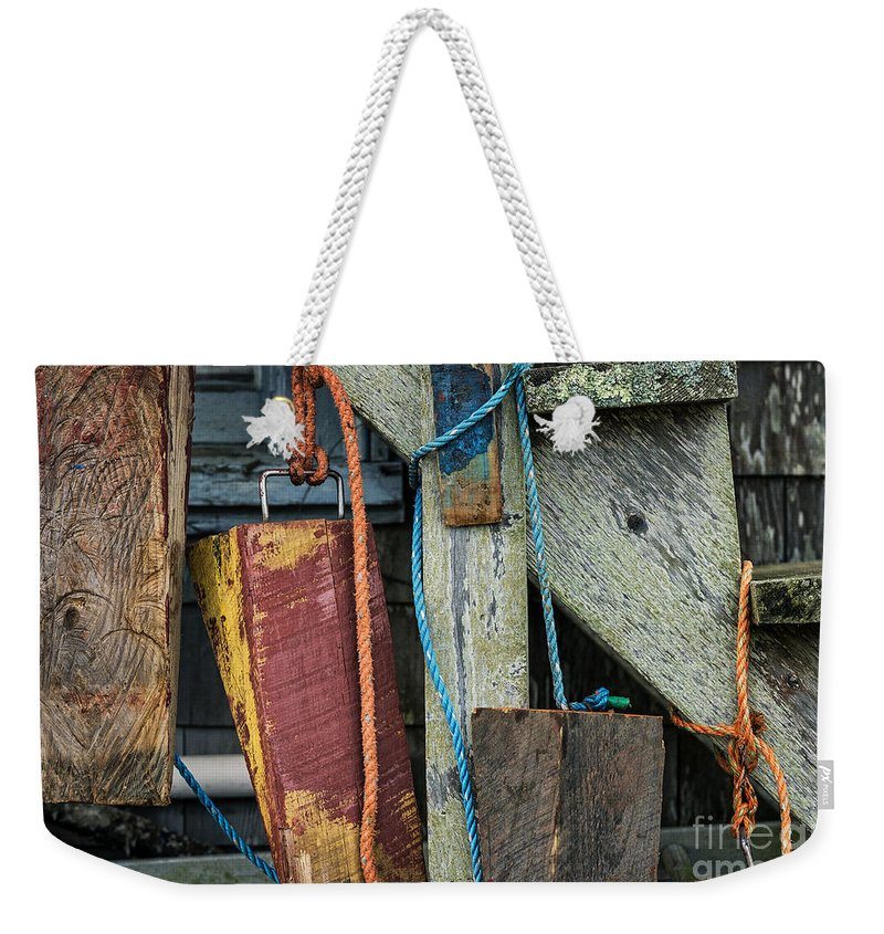 Chilmark Weekender Tote Bag featuring the photograph Harbor Shanty by John Greim