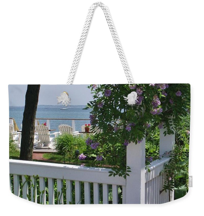 Provincetown Harbor Weekender Tote Bag featuring the photograph Harbor View by Michelle Welles