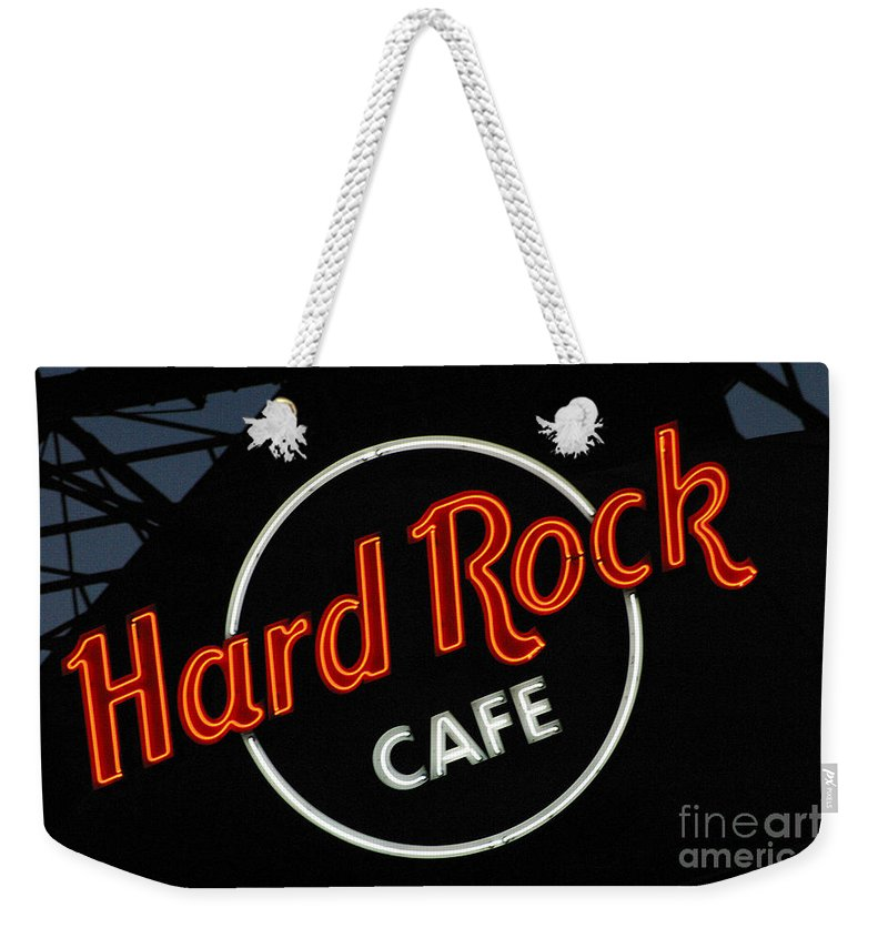 Hard Rock Cafe Weekender Tote Bag featuring the photograph Hard Rock - St. Louis by Gary Gingrich Galleries