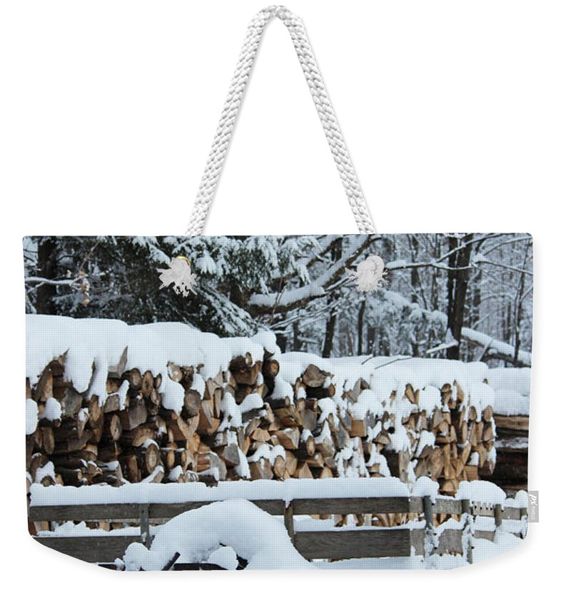 Wood Weekender Tote Bag featuring the photograph Hard Working Man by Tiffany Erdman