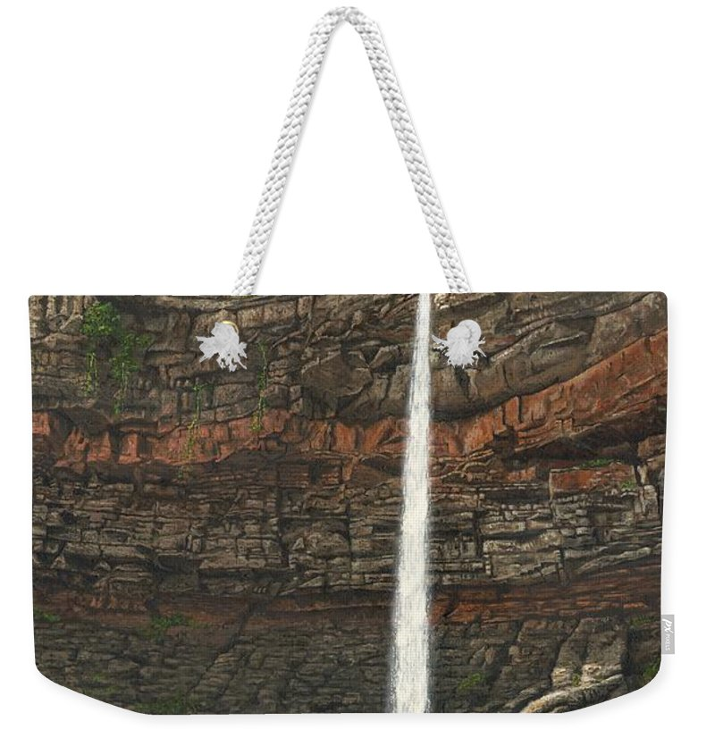 Hardraw Force Weekender Tote Bag featuring the painting Hardraw Force Yorkshire by Richard Harpum