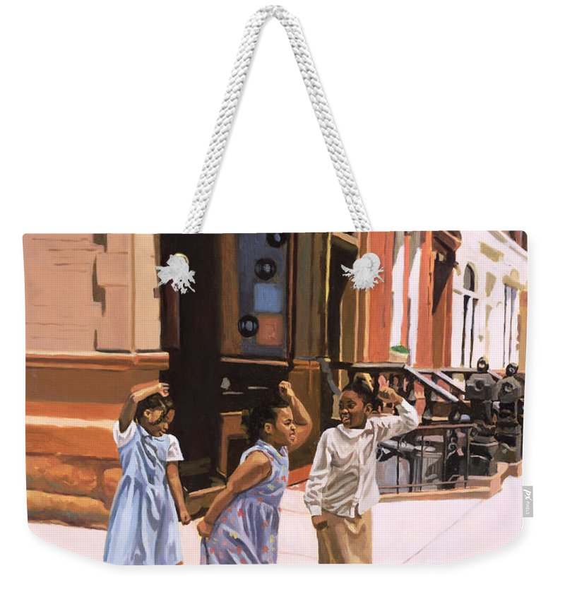 Children Weekender Tote Bag featuring the painting Harlem Jig by Colin Bootman