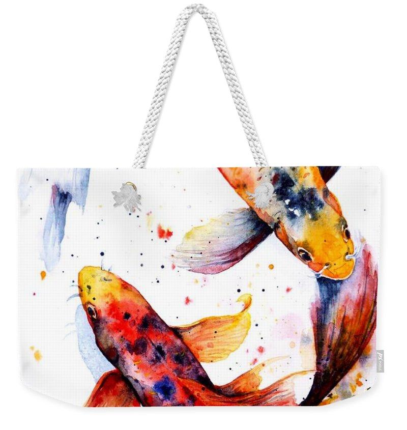 Koi Weekender Tote Bags