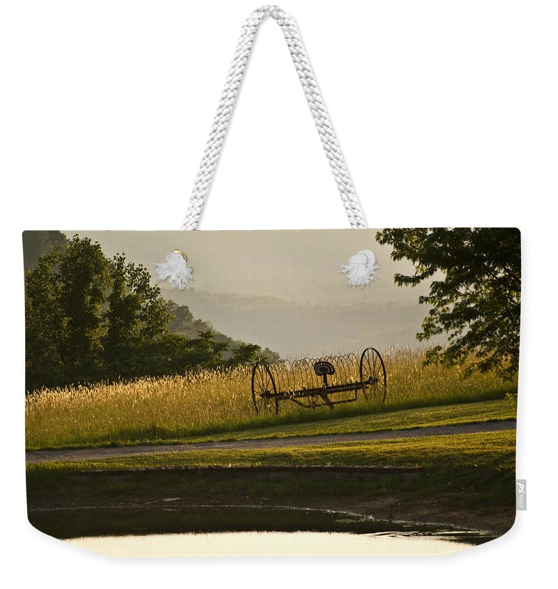 Hay Weekender Tote Bag featuring the photograph Harvest Time by Douglas Barnett