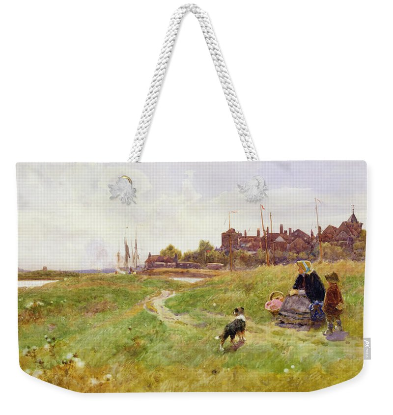 Landscape Weekender Tote Bag featuring the painting Hastings by Thomas James Lloyd