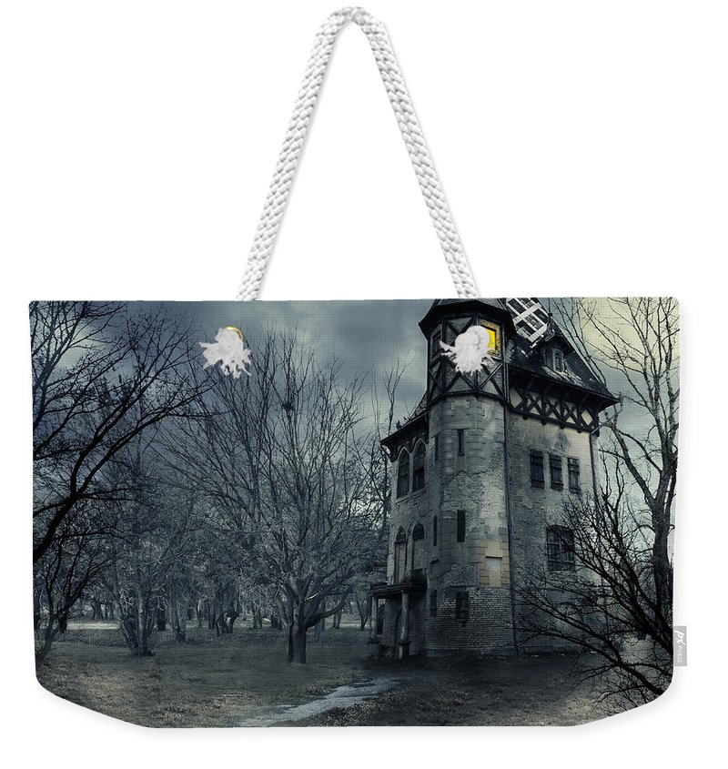 House Weekender Tote Bag featuring the photograph Haunted house by Jelena Jovanovic