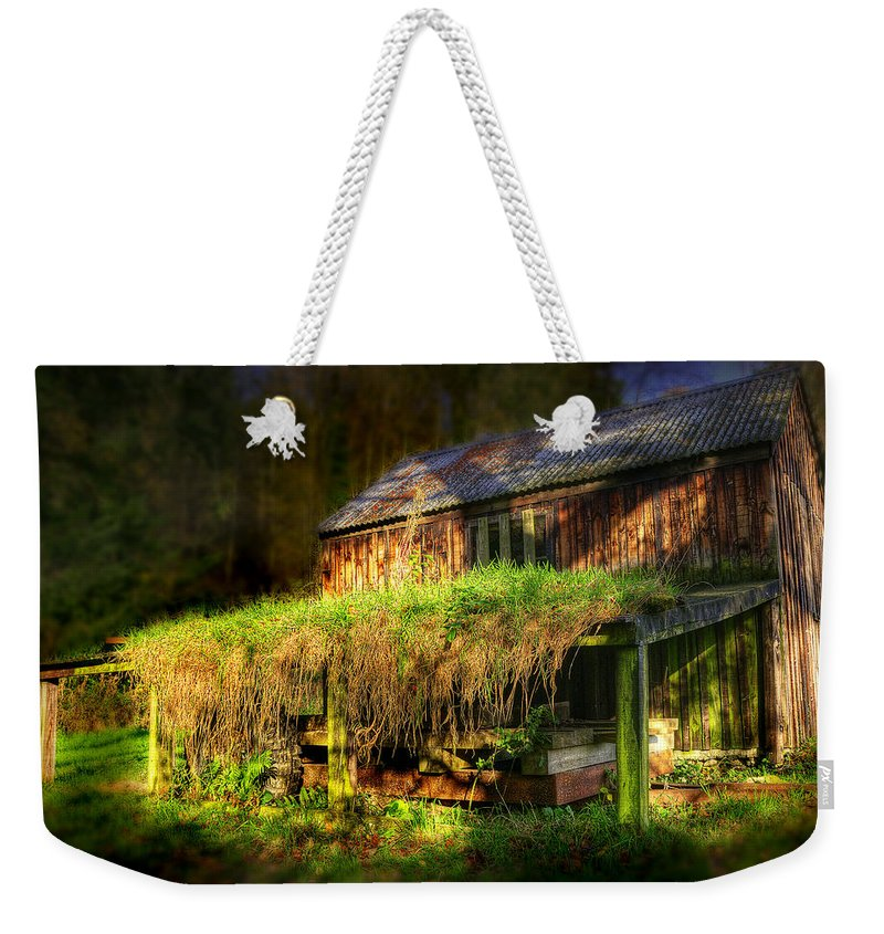 Ancient Weekender Tote Bag featuring the photograph Haunted House by Svetlana Sewell