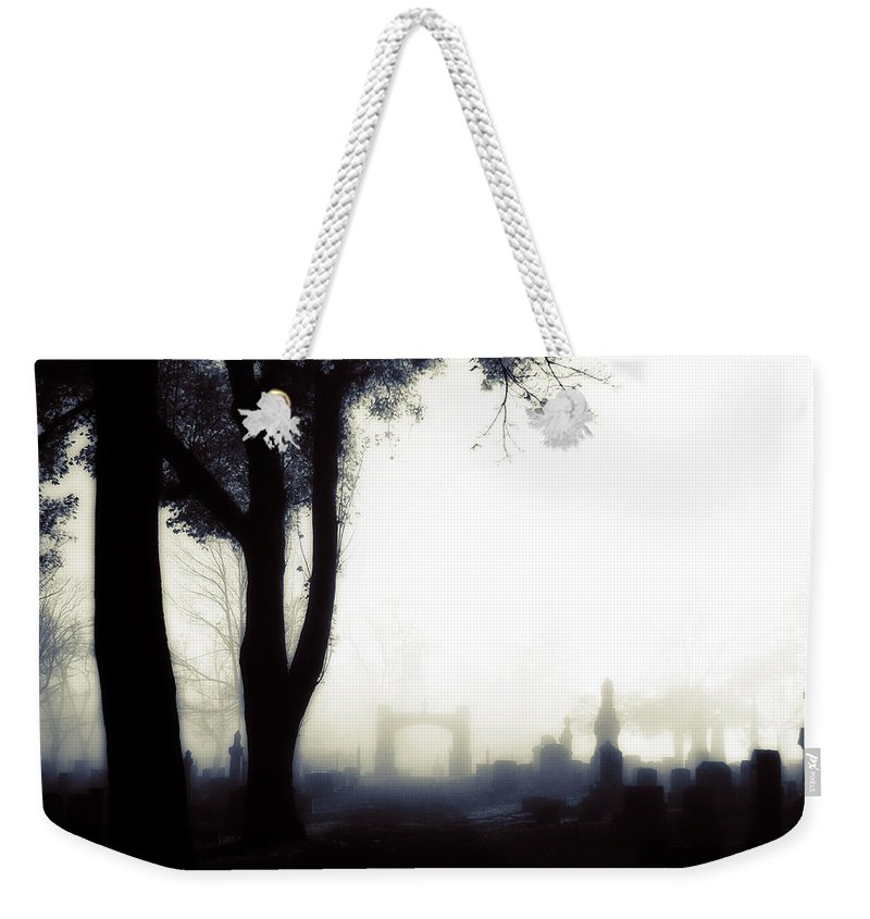 Fog Weekender Tote Bag featuring the photograph Haunting On All Hallow's Eve by Gothicrow Images