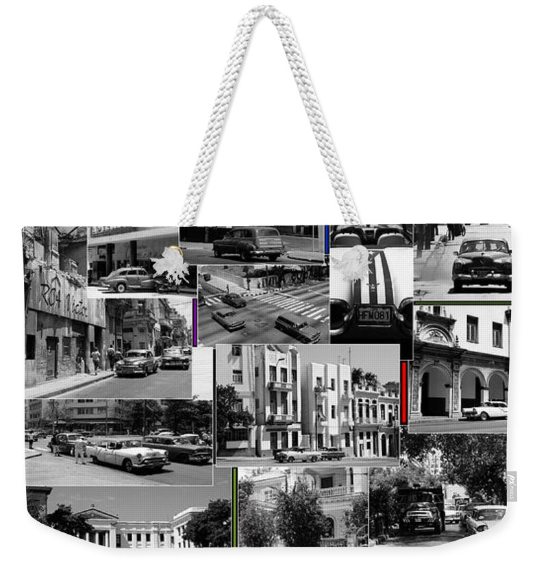 Havana Weekender Tote Bag featuring the photograph Havana Montage 3 by Andrew Fare