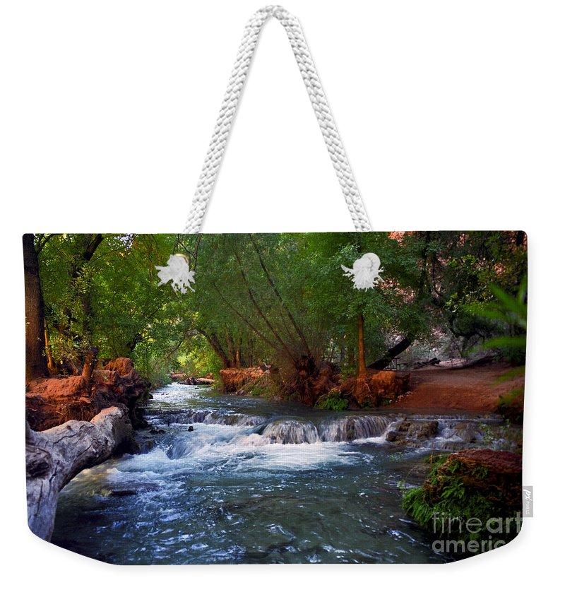 Arizona Weekender Tote Bag featuring the photograph Havasu Creek by Kathy McClure