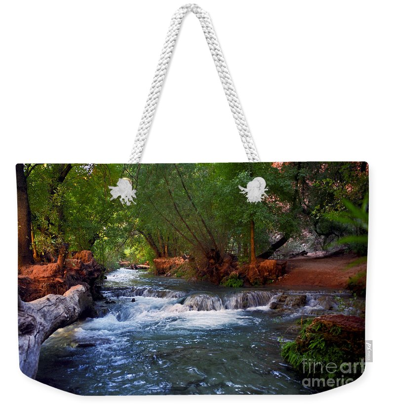 Arizona Weekender Tote Bag featuring the photograph Havasu Creek by Kathy McClure