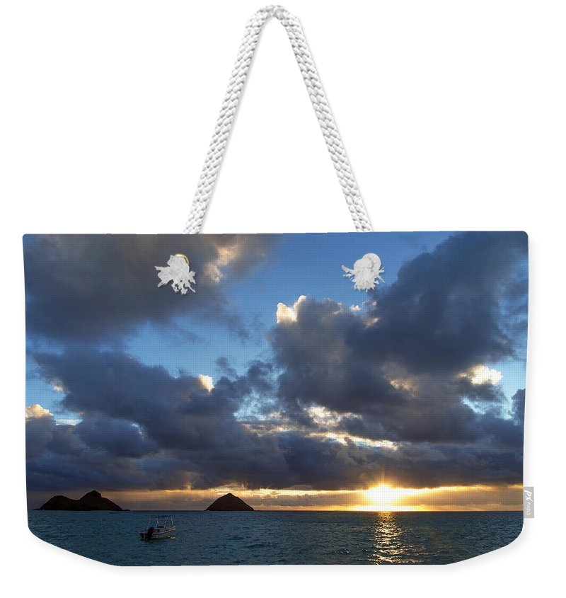 Hawaii Weekender Tote Bag featuring the photograph Hawaii Sunrise by Dustin LeFevre