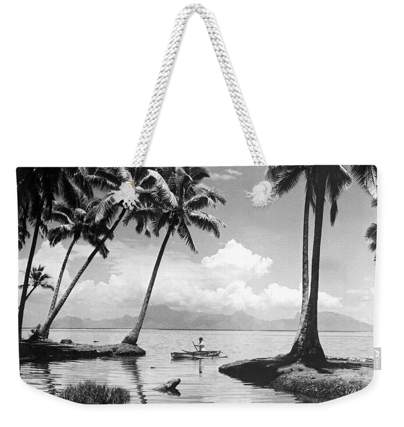 1940 Weekender Tote Bag featuring the photograph Hawaii Tropical Scene by Underwood Archives