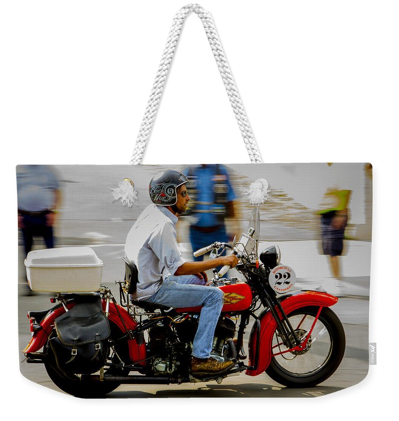 Antique Weekender Tote Bag featuring the photograph Hd 22 Brings Out The Colors by Jeff Kurtz