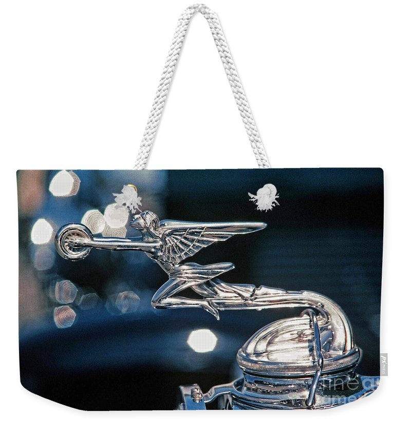 Hood Ornaments Weekender Tote Bag featuring the photograph Hdr Hood Ornament by Randy Harris
