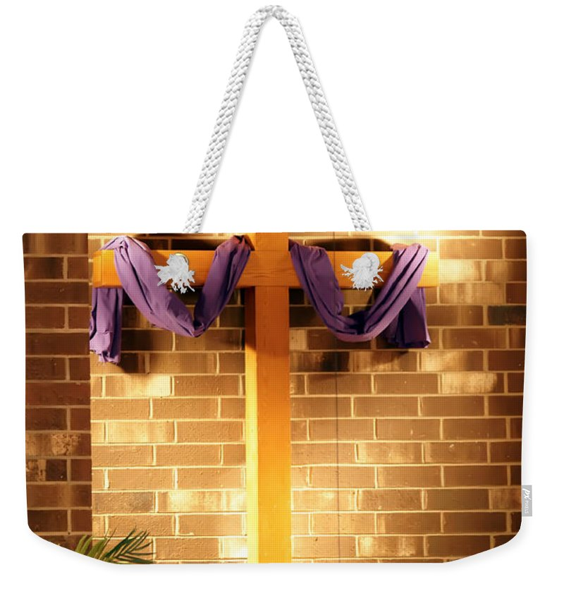Aisle Weekender Tote Bag featuring the photograph He Is Risen by Alex Grichenko