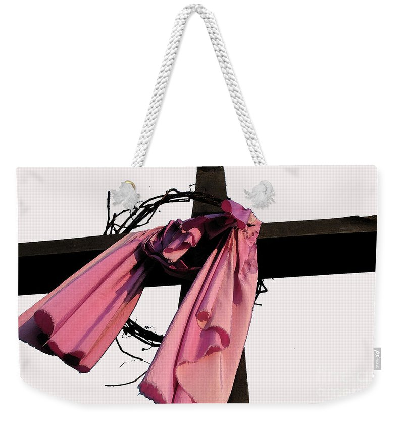 Christian Weekender Tote Bag featuring the photograph He Is Risen by Douglas Stucky