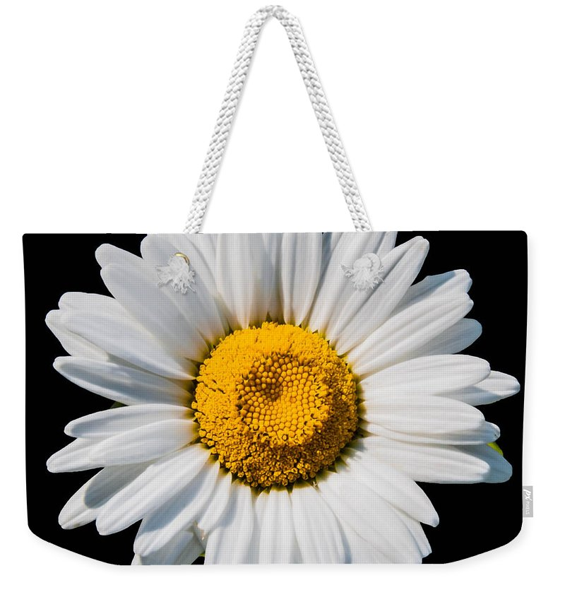 Flowers Weekender Tote Bag featuring the photograph He Loves Me  He Loves Me Not by Guy Whiteley