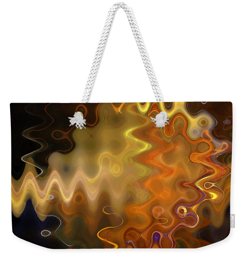 Fractal Weekender Tote Bag featuring the photograph He Zigged And She Zagged by Sylvia Thornton