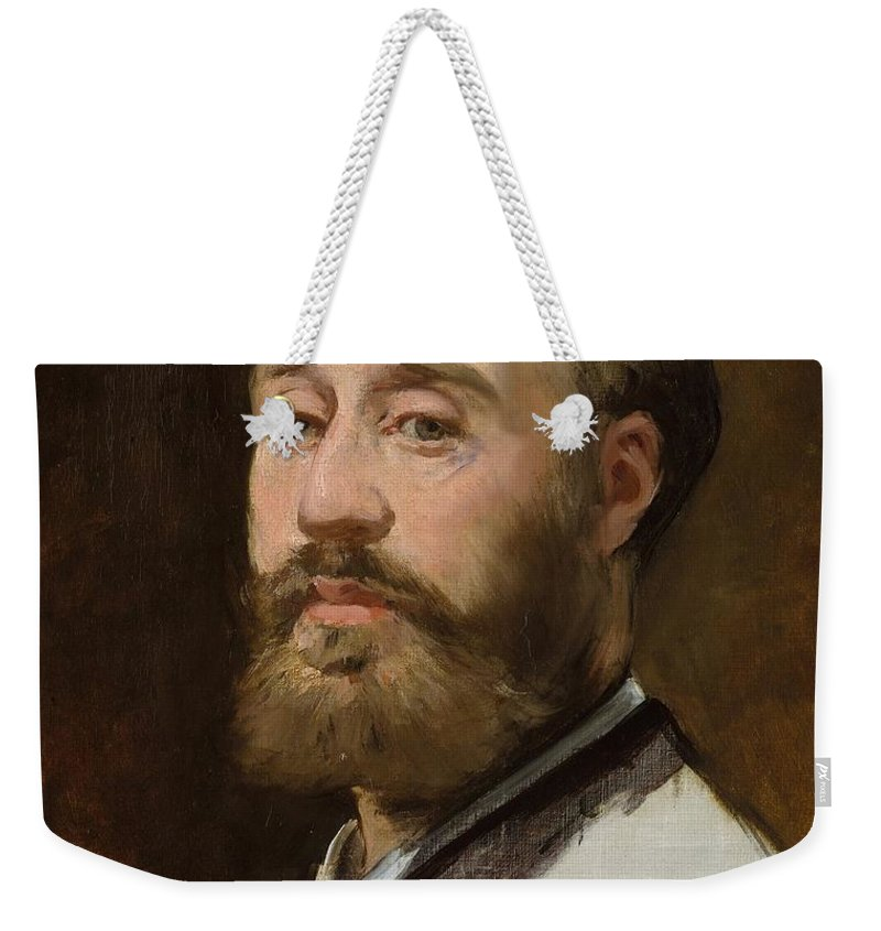 1882-1883 Weekender Tote Bag featuring the painting Head Of Jean-baptiste Faure by Edouard Manet