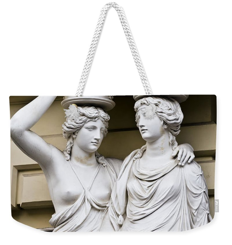 Statue Weekender Tote Bag featuring the photograph Headache In Vienna by Jon Berghoff