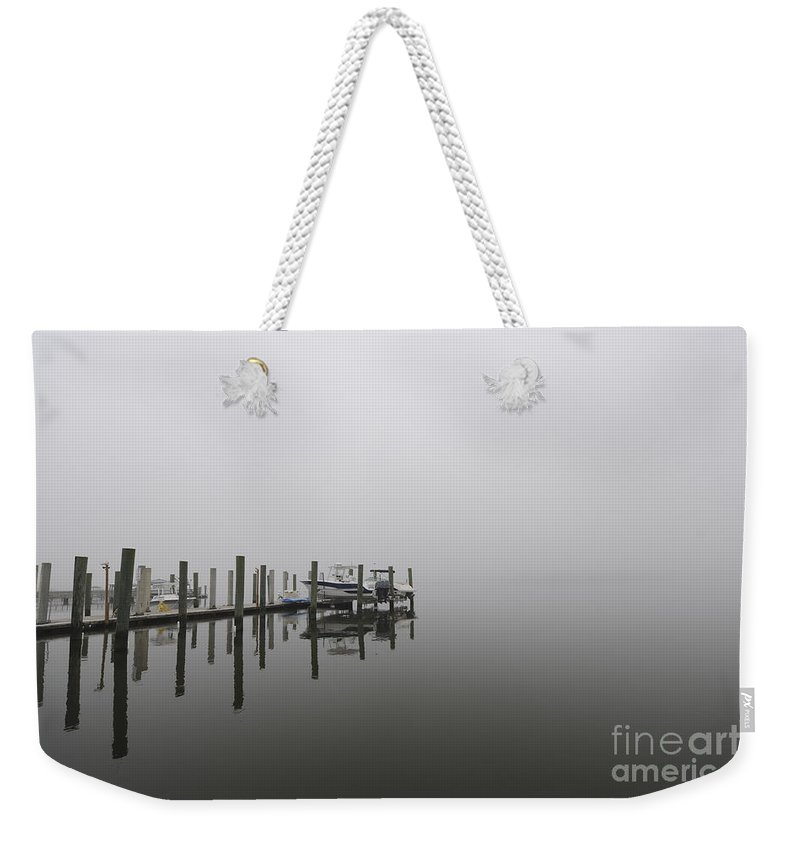 Fog Weekender Tote Bag featuring the photograph Heading Out Into The Fog by Dale Powell