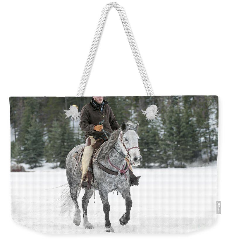 Montana Weekender Tote Bag featuring the photograph Heading Out by Sandra Bronstein