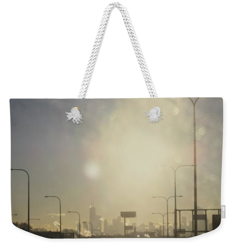 City Weekender Tote Bag featuring the photograph Heading South On The Kennedy by Margie Hurwich