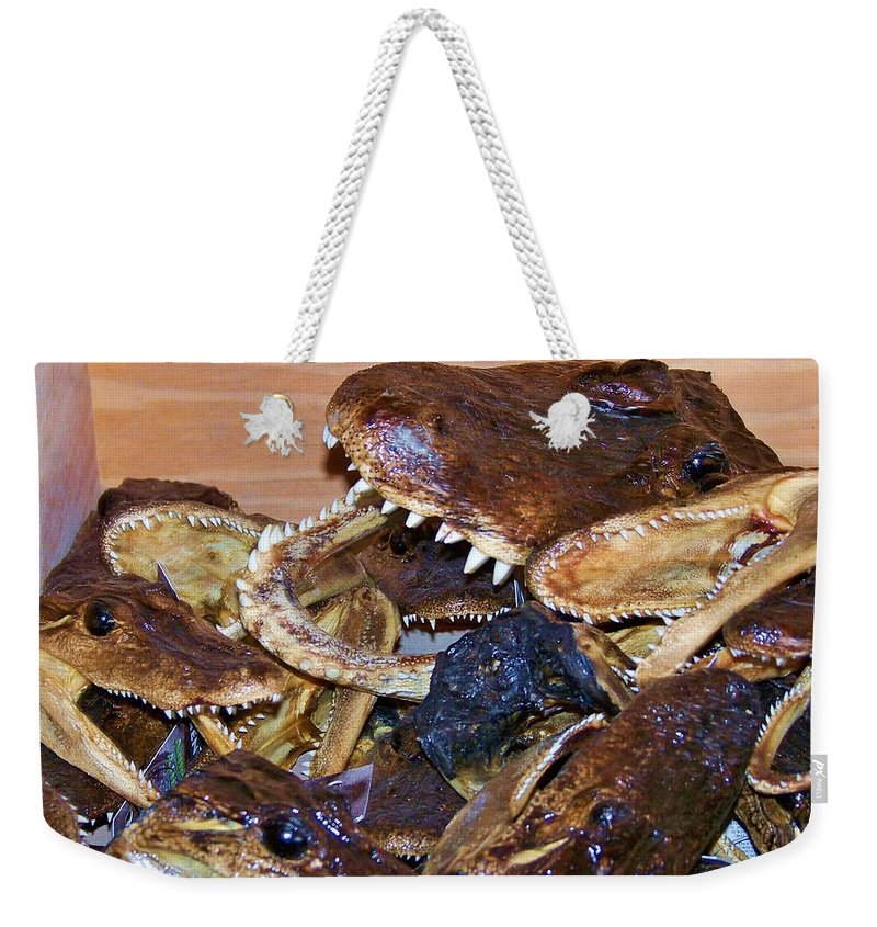 Heads Weekender Tote Bag featuring the photograph Heads by Chuck Hicks