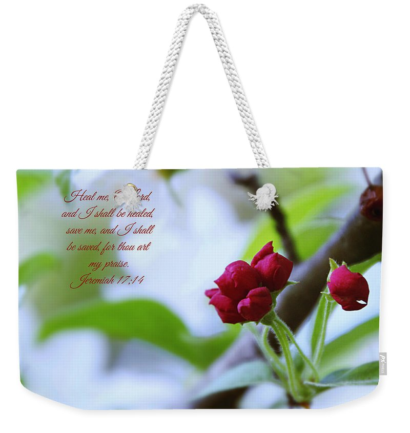 Flowers Weekender Tote Bag featuring the photograph Heal Me by Debbie Nobile