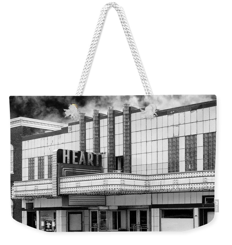 Old Theater Weekender Tote Bag featuring the photograph Heart by Dominic Piperata