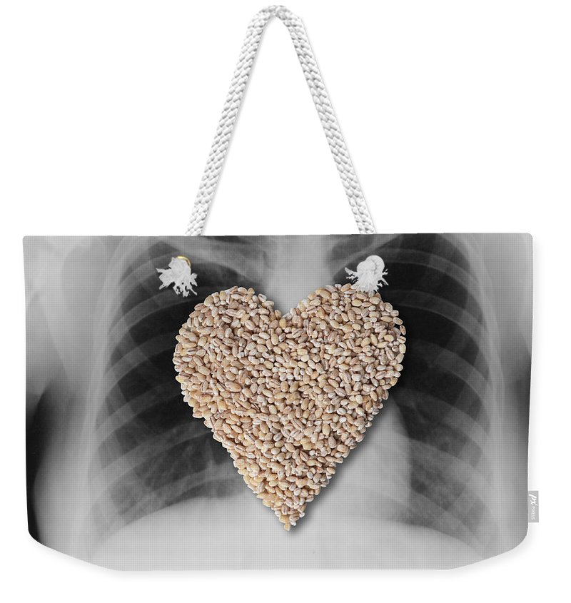 X-ray Weekender Tote Bag featuring the photograph Heart Healthy Food by Gwen Shockey