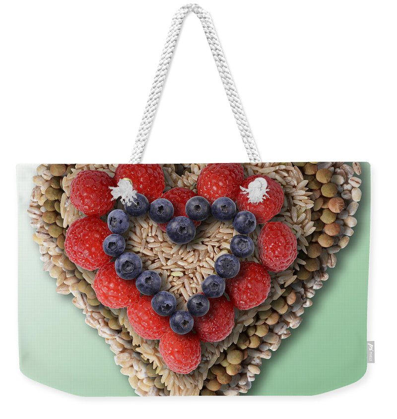 Heart-healthy Weekender Tote Bag featuring the photograph Heart-healthy Foods by Gwen Shockey