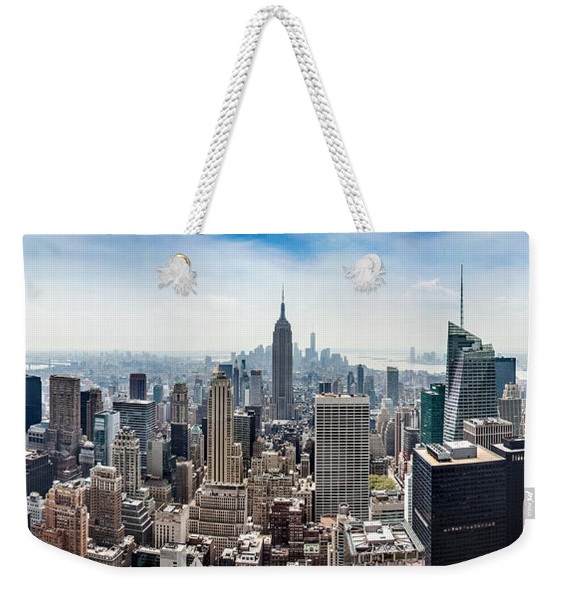 Empire State Building Weekender Tote Bag featuring the photograph Heart of an Empire by Az Jackson