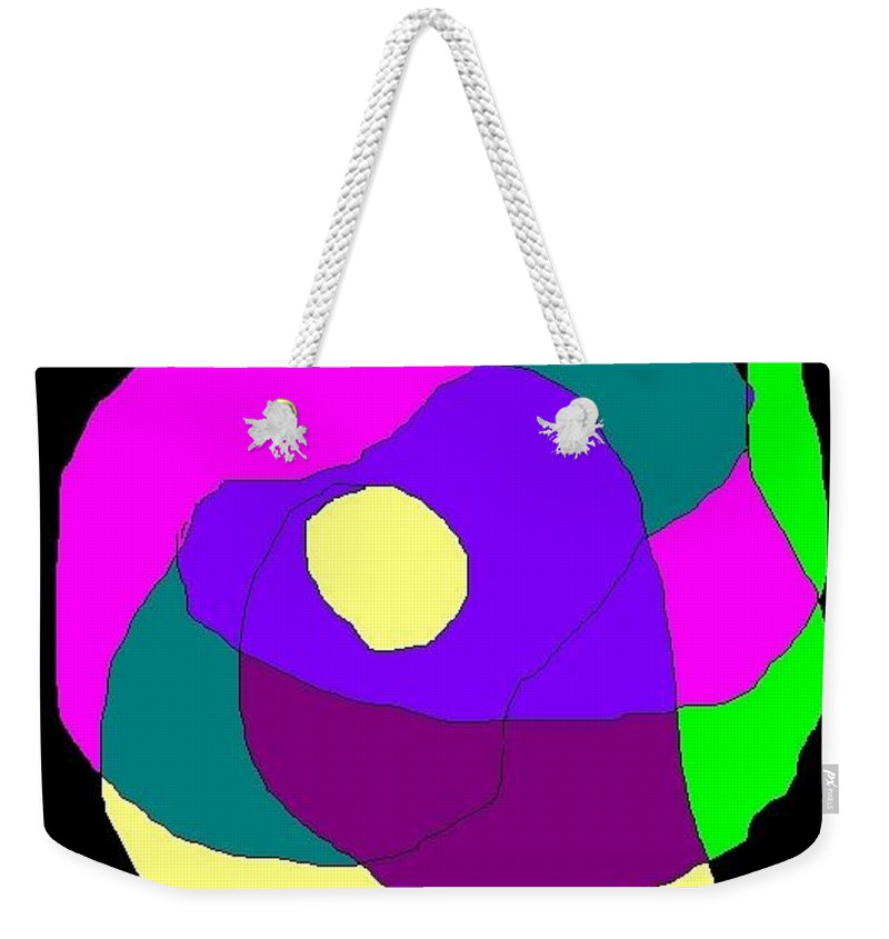 Colorful Weekender Tote Bag featuring the digital art Heart Of The Country by Carol Lindquist