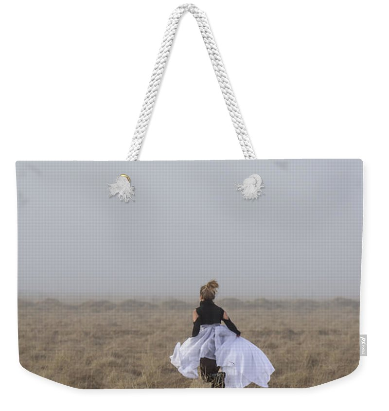 Girl Weekender Tote Bag featuring the photograph Heart On The Run by Evelina Kremsdorf