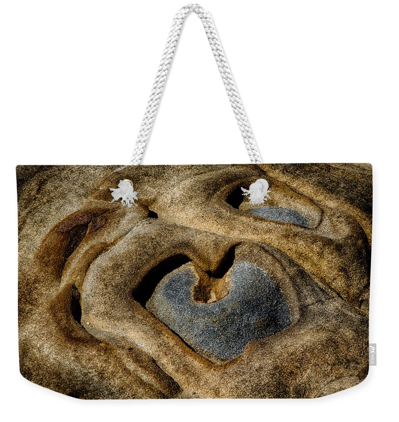 Rock Weekender Tote Bag featuring the photograph Heart Rock by Robert Woodward
