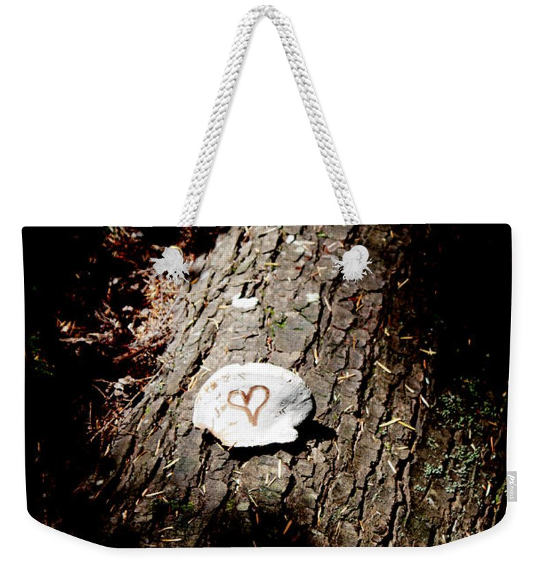 Heart Weekender Tote Bag featuring the photograph Heart Shape Stop by Edward Hawkins II
