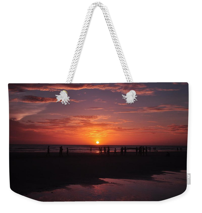 Brazil Weekender Tote Bag featuring the photograph Heart Shaped Sunset In Brazil by Karen Maxwell