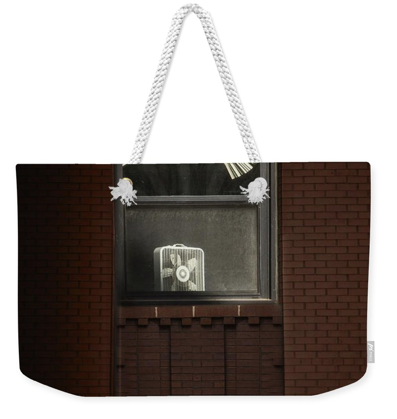 Window Weekender Tote Bag featuring the photograph Heated by Margie Hurwich