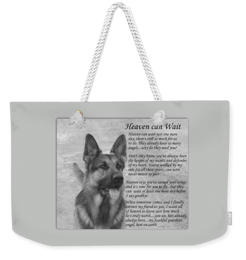 Dogs Weekender Tote Bag featuring the photograph Heaven Can Wait by Sue Long