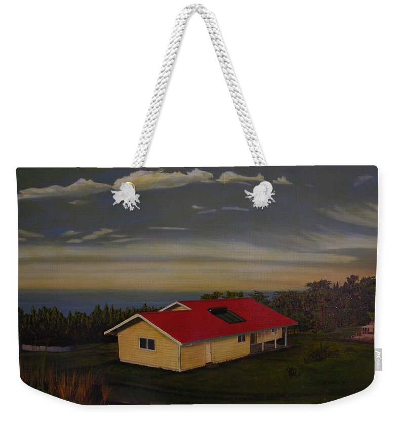 Hawaii Landscape Weekender Tote Bag featuring the painting Heaven On Earth by Thu Nguyen