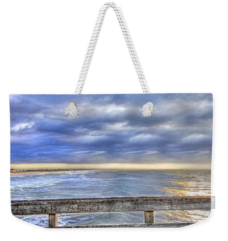 Topsail Weekender Tote Bag featuring the photograph Heaven Sent by Betsy Knapp