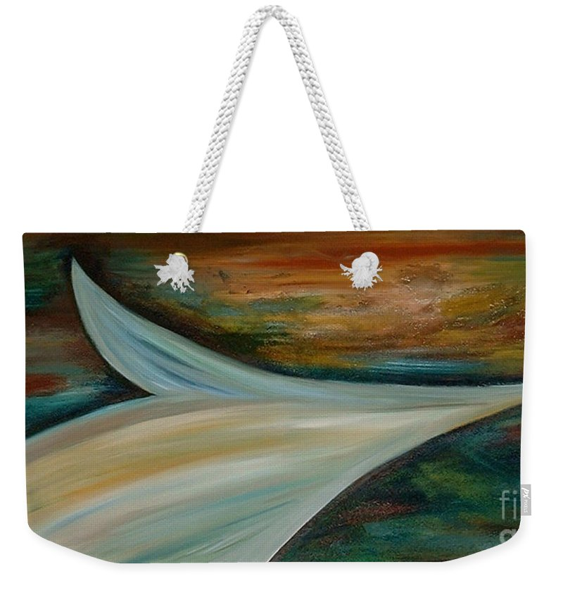 Abstract Weekender Tote Bag featuring the painting Heaven by Silvana Abel