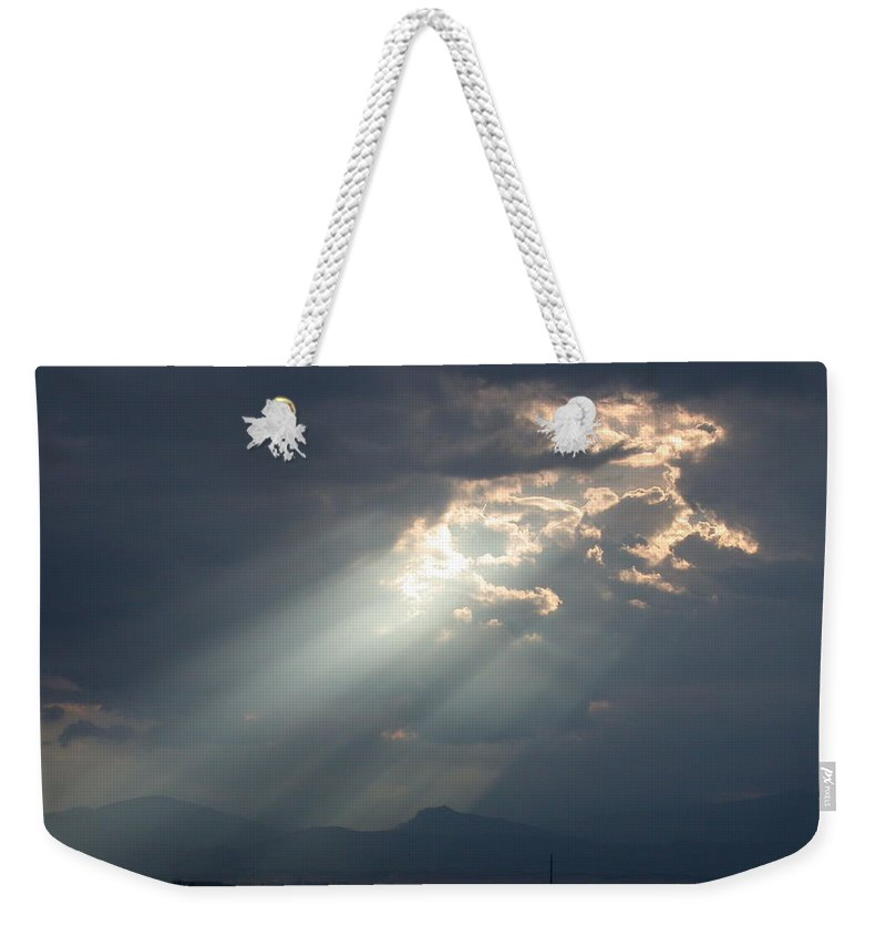 Rays Weekender Tote Bag featuring the photograph Heavenly Rays by Shane Bechler