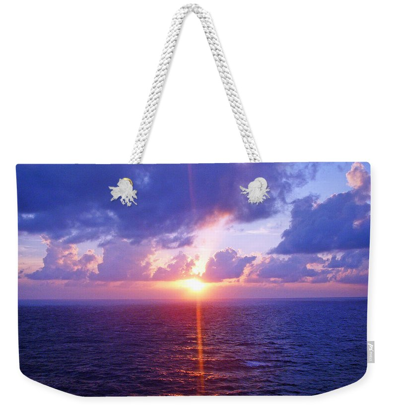 Sunset Weekender Tote Bag featuring the photograph Heavenly Sunset by Aimee L Maher ALM GALLERY