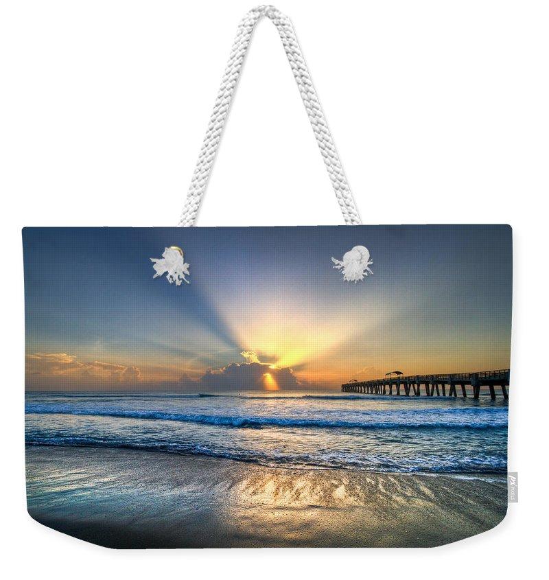 Palm Weekender Tote Bag featuring the photograph Heaven's Door by Debra and Dave Vanderlaan