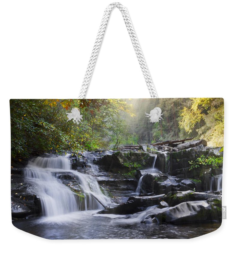 Appalachia Weekender Tote Bag featuring the photograph Heaven's Light by Debra and Dave Vanderlaan