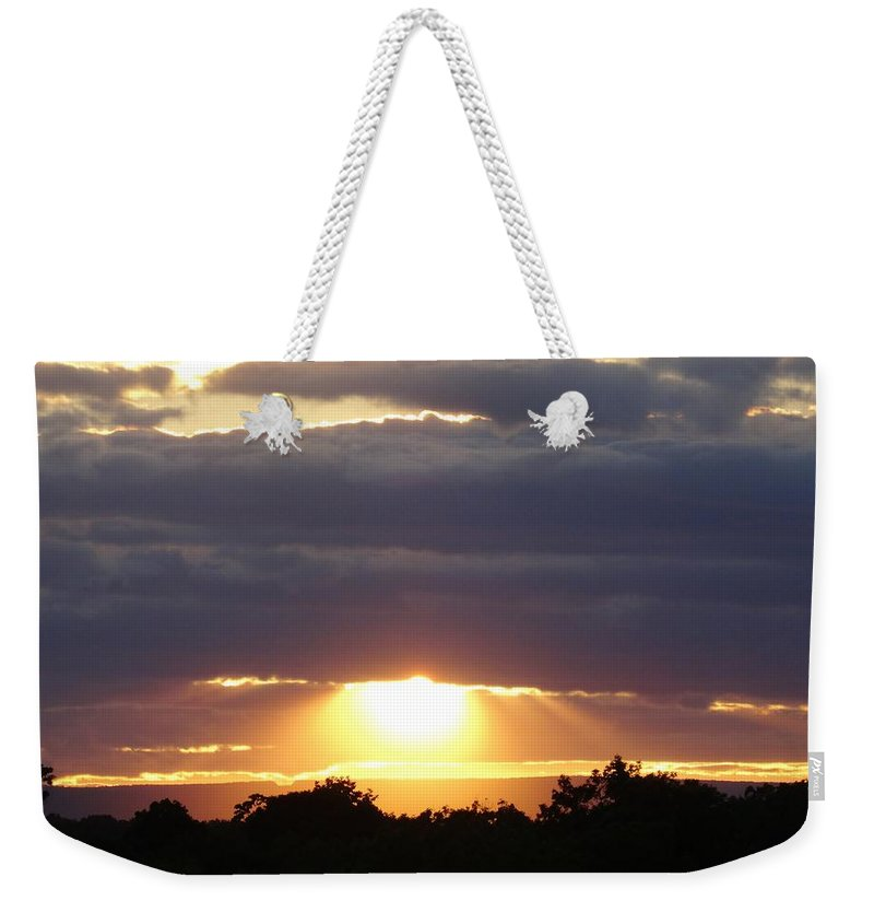Heaven Weekender Tote Bag featuring the photograph Heaven's Rays 3 by Scenic Sights By Tara
