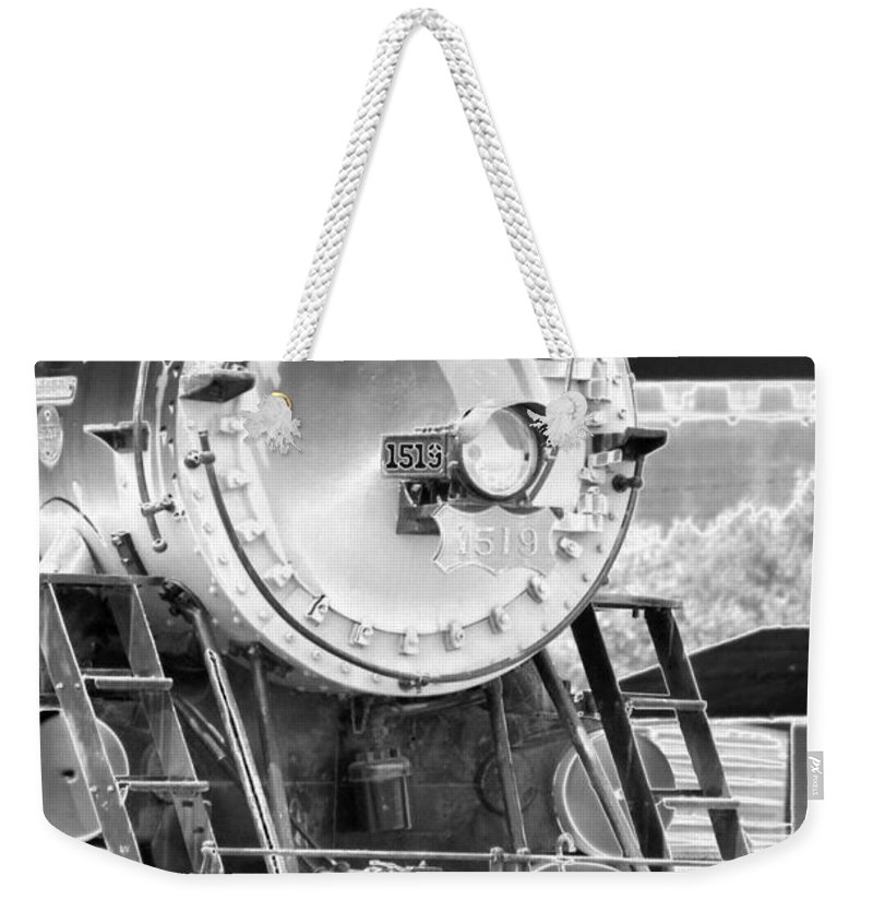 Train Weekender Tote Bag featuring the photograph Heavy Metal 1519 - Photopower 1478 by Pamela Critchlow